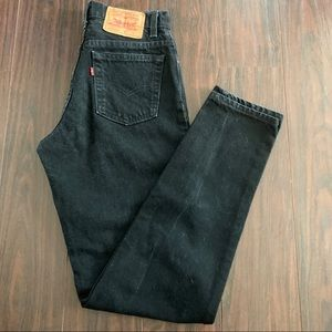 Vintage Levi 9 L Made In USA Women's Black Jeans